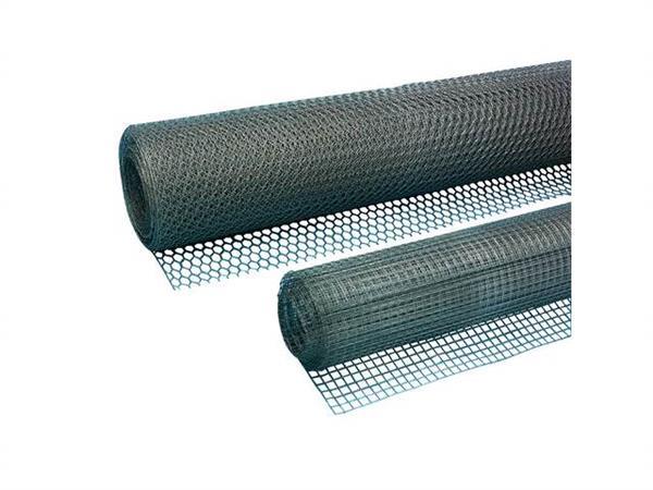 Vlechtgaas verz. 100 cm br. maas- wijdte 13 mm op rol van 10 mtr.