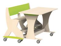 Tafel Flex 210 HPL toplaag ahorn structuur, blad 210 x 80 cm